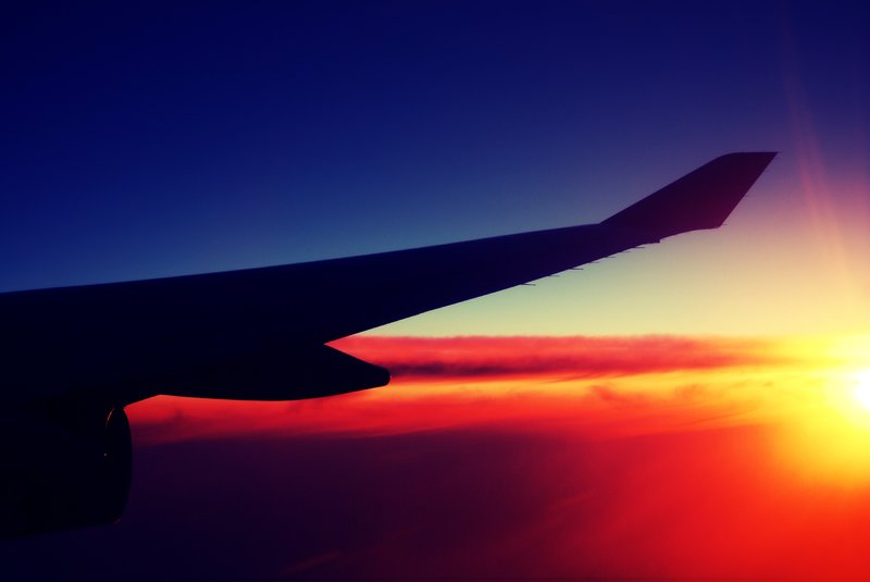 Best Travel Tips Flight Sunset