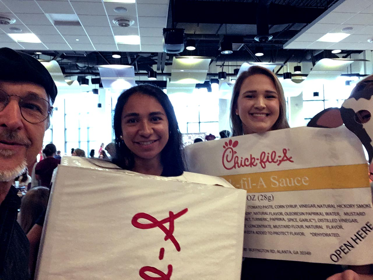 Tampa Students in Chick-Fil-A costumes